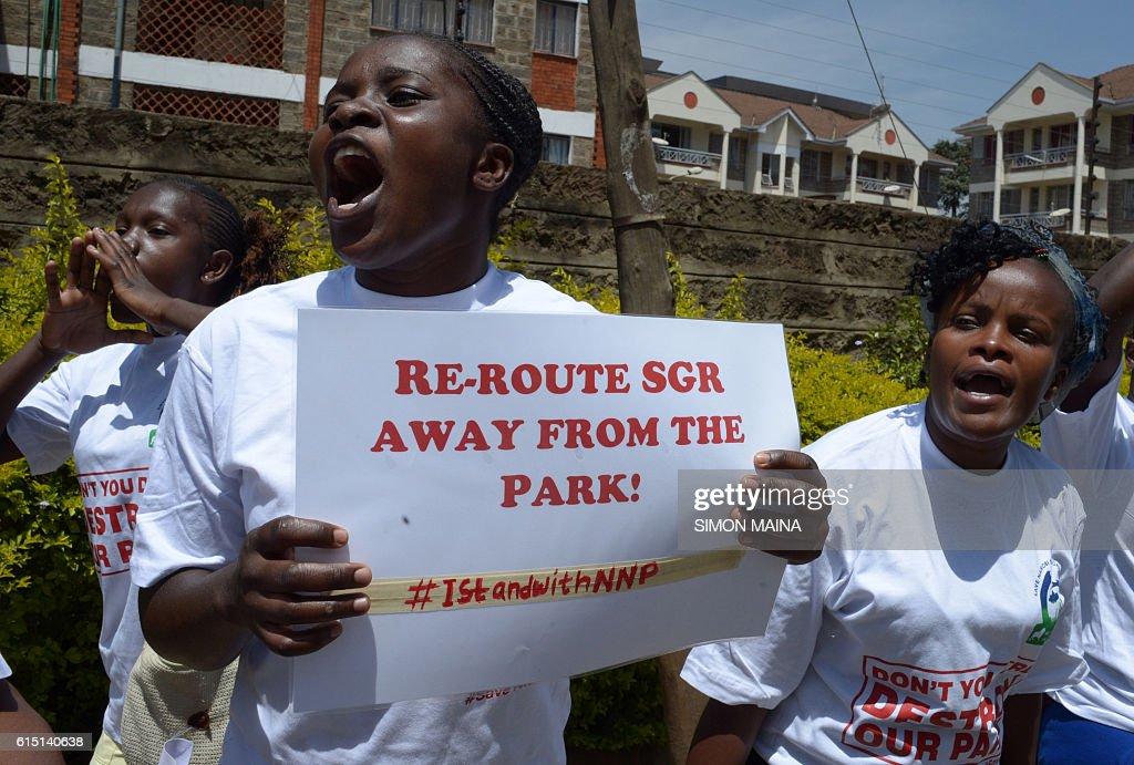 KENYA-CHINA-RAILWAY-PROTEST-NATURE : News Photo