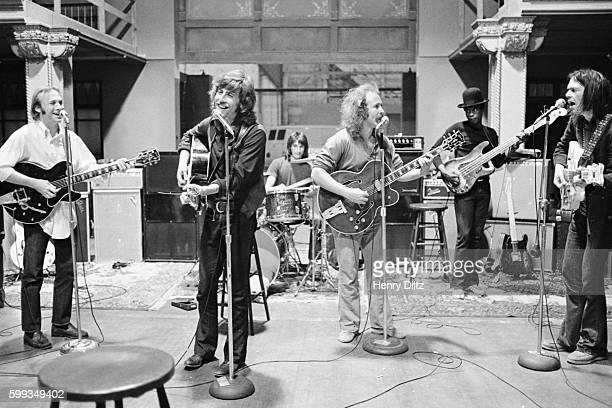 Members of Crosby Stills Nash Young are Stephen Stills Graham Nash David Crosby and Neil Young