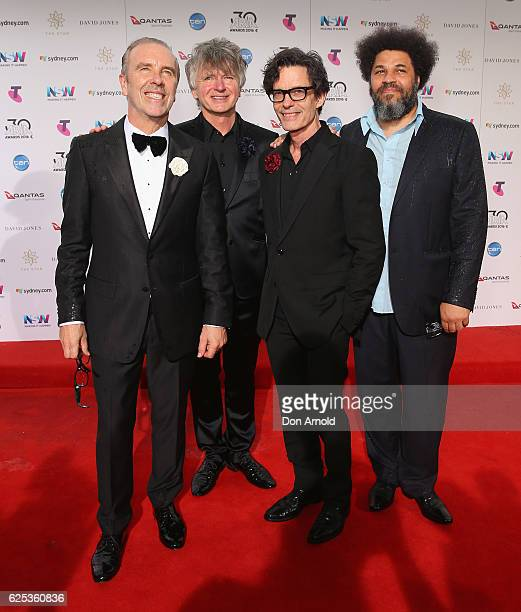 Members of Crowded House arrive for the 30th Annual ARIA Awards 2016 at The Star on November 23 2016 in Sydney Australia