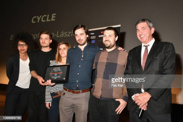 Members of Cycle by Balint Klopstein Laszlo Grand Prix Europe attend the 'Mobile Film Festival Stand Up 4 Human Rights Awards' Ceremony Hosted by...
