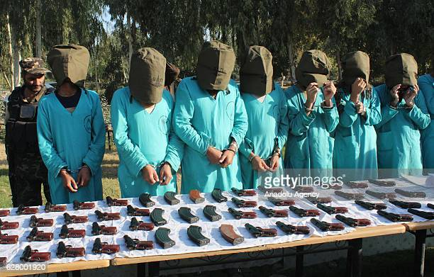 Members of Daesh and taliban militants are seen in Jalalabad eastern Afghanistan on December 06 2016 National Directorate Security arrested three key...