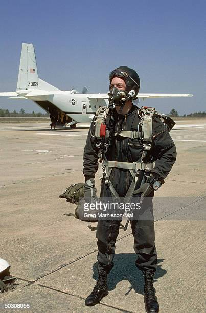 Members of Delta Force preparing to conduct HALO training which involves parachuting at an altitude which requires oxygen and later opening up the...