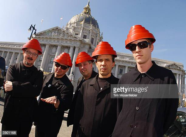 Members of DEVO at Nissan's Z Tour 2002 an 18 city tour featuring different artists for free Location Civic Center San Francisco CA on October 25th...