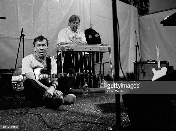Members of Devo perform during Opening of Airstream Diner in Beverly Hills Black and White Photography by Chris Weeks at Airstream Diner in Beverly...