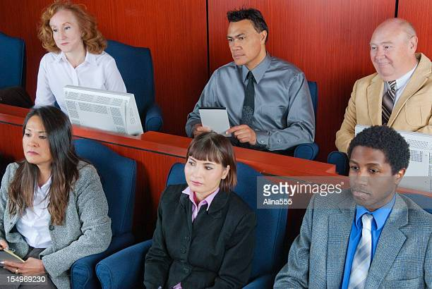 members of diverse jury in a federal court - juror law stock pictures, royalty-free photos & images