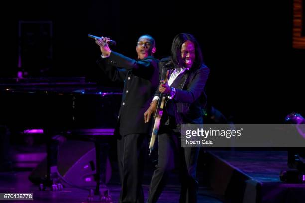 Members of Earth Wind and Fire perform onstage during the Clive Davis The Soundtrack of Our Lives Premiere Concert during the 2017 Tribeca Film...