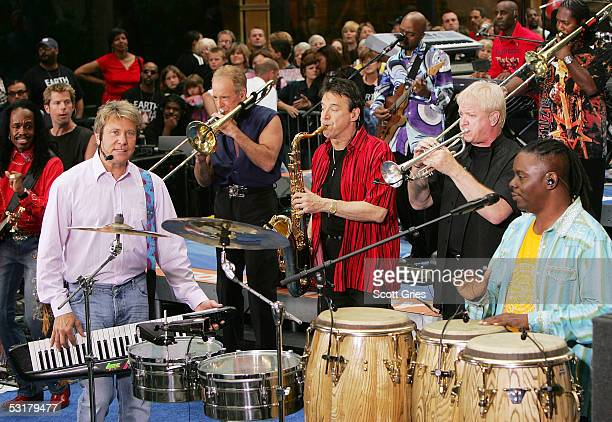 Members of Earth, Wind & Fire and Chicago perform during the 10th Anniversary of the Toyota Concert Series on the Today Show July 1, 2005 in New York...