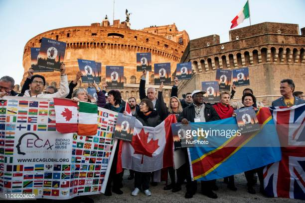 Members of Ending Clergy Abuse an organisation of survivors and activists who are organising in Rome a series of events during the papal summit on...