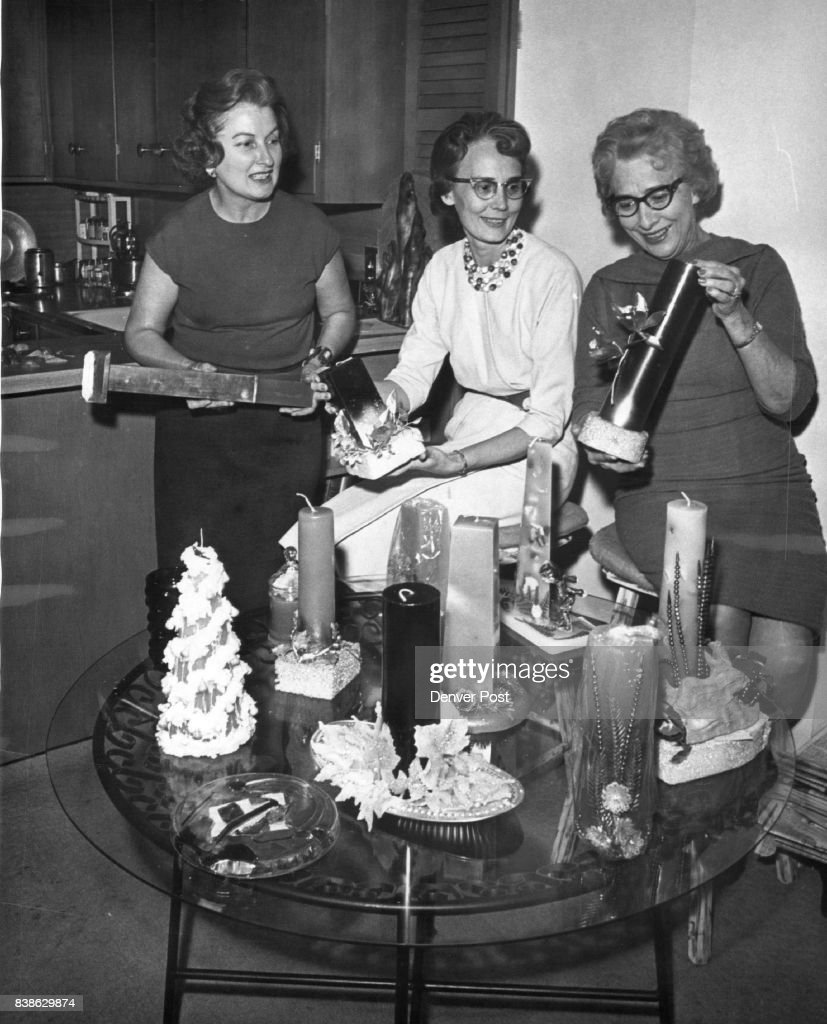 Members Of Englewood Zonta Group Manufacture Candles For