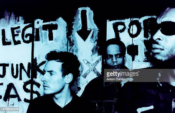 Members of english music band Massive Attack are photographed for Details Magazine on April 2, 1998 in London, England.