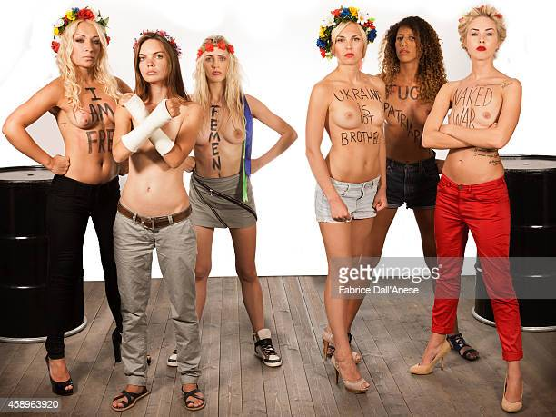 Members of FEMEN are photographed for Vanity Fair Italy on September 1 2013 in Venice Italy