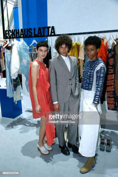 Members of Finalist 'Eckhaus Latta' attend the LVMH Prize 2018 Edition at Fondation Louis Vuitton on June 6 2018 in Paris France