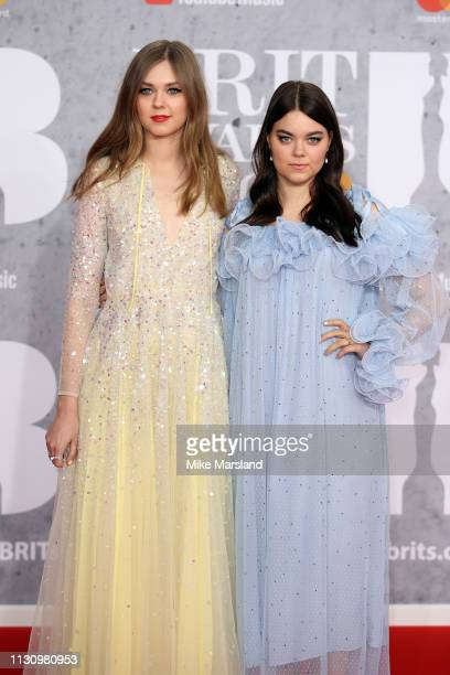 Members of 'First Aid Kit', Johanna Soderberg and Klara Soderberg attend The BRIT Awards 2019 held at The O2 Arena on February 20, 2019 in London,...