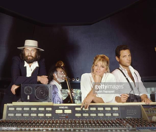 Members of Fleetwood Mac shot in a recording Studio in Los Angeles in 1986