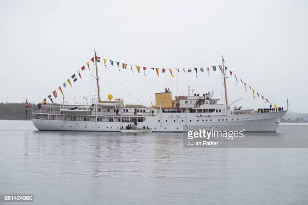 Members of Foreign Royal Families attend a lunch on the Norwegian Royal Yacht Norge as part of the celebrations of the 80th Birthdays of King Harald...