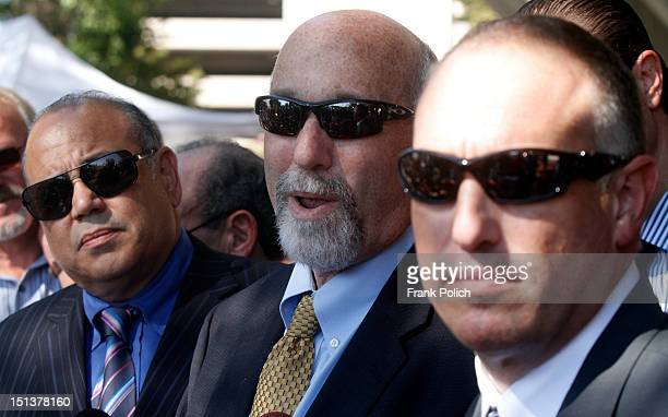 Members of former Bollingbrook Illinois police officer Drew Peterson's defense team Joe Lopez Joel Brodsky and Steven Greenberg answer questions...