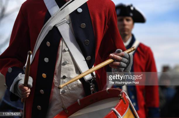 Members of Frederick Town Fife and Drum perform during the annual George Washington Birthday Parade on Monday February 18 2019 in Alexandria VA