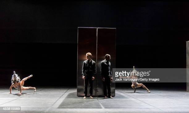 Members of French dance company Ballet Preljocaj perform 'And Then, One Thousand Years of Peace' at the BAM Howard Gilman Opera House, Brooklyn, New...