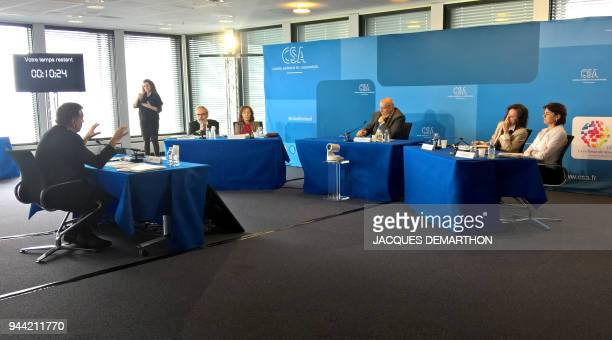Members of French Higher Audiovisual Council France's broadcast media regulator JeanFrançois Mary Memona HintermannAffejee Nicolas Curien Sylvie...