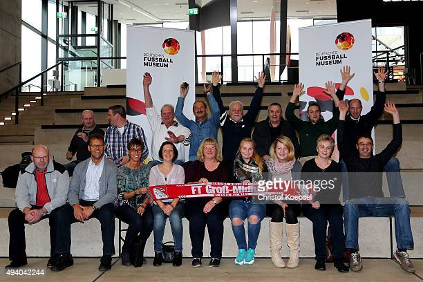 Members of FT Gro§Midlum 1985 pose during the day of amateur clubs at German Football Museum on October 24 2015 in Dortmund Germany