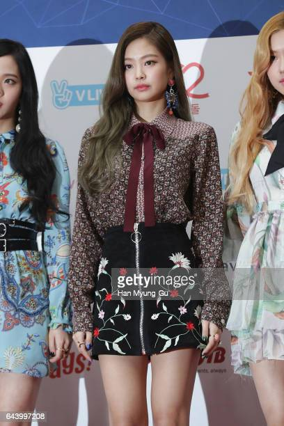 Members of girl group BLACKPINK attend the 6th Gaon Chart KPop Awards on February 22 2017 in Seoul South Korea