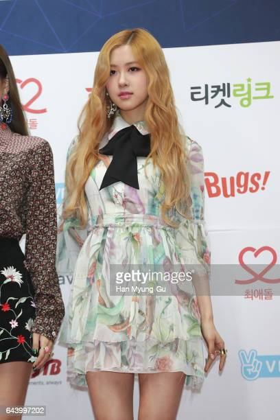 Members of girl group BLACKPINK attends the 6th Gaon Chart KPop Awards on February 22 2017 in Seoul South Korea