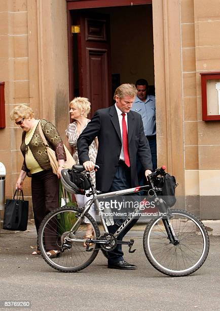 Members of Gordon Wood's family leave Darlinghurst Court with his mother Brenda Wood and sisters, Jacqueline and Michele on November 18, 2008 in...