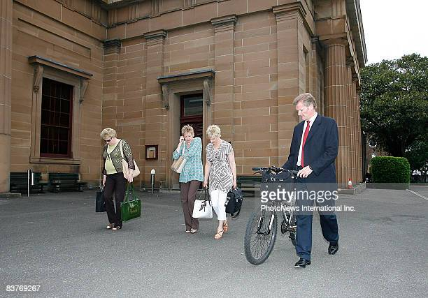 Members of Gordon Wood's family leaves Darlinghurst Court with his mother Brenda Wood and sisters, Jacqueline and Michele on November 18, 2008 in...