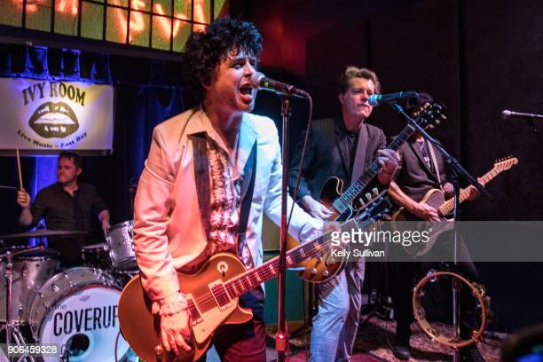 Members of Green Day perform as cover band The Coverups at the Ivy Room on January 15 2018 in Albany California