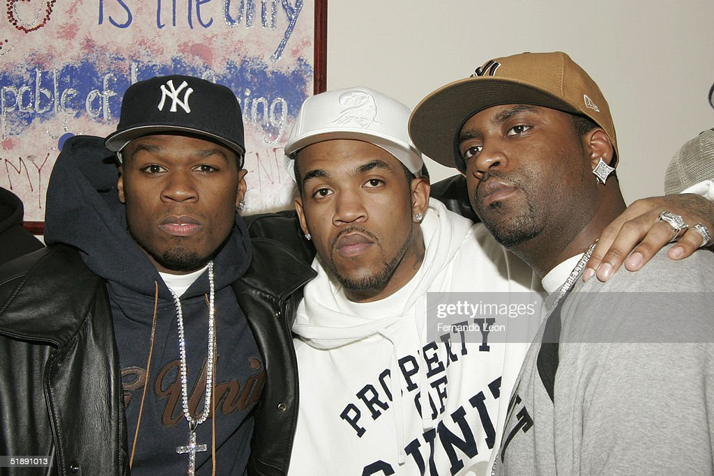 50 Cent And Lloyd Banks Host Holiday Shopping For The Homeless : News Photo