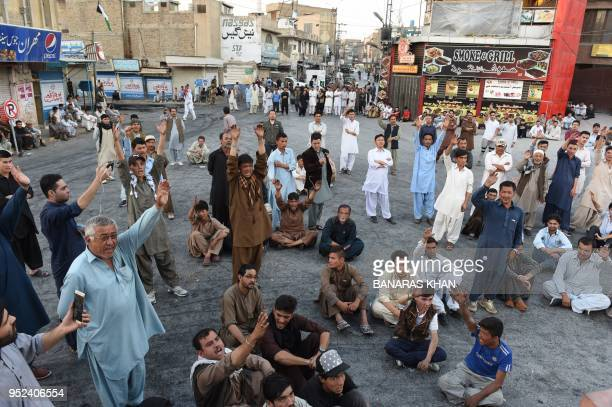 Members of Hazara community protest against the killing of Hazara people in Quetta on April 28 2018 Two people belonging to the Hazara community have...