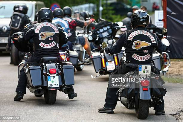 Members of Hells Angels motorcycle club take part in 'World Run 2016' event on June 3 2016 in Rynia Poland The convention is attended by more than...