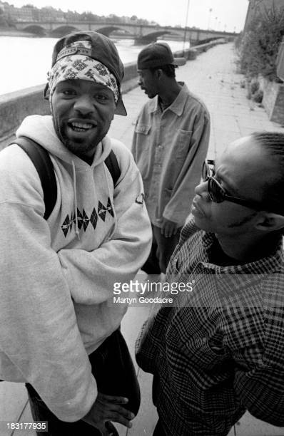 WuTang Clan pose for a group portrait London United Kingdom 1994