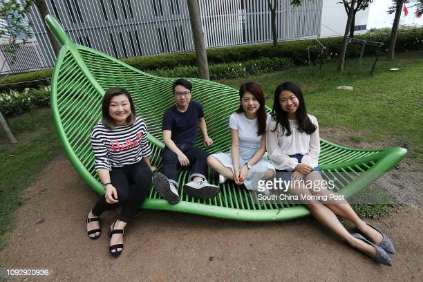 Members of Hong Kong Public Space Initiative Anthea Cheung Hoikei Canon Wong Wong Yuling and Kathy Ip Tszying at Tamar Park in Admiralty 14MAY17 SCMP...