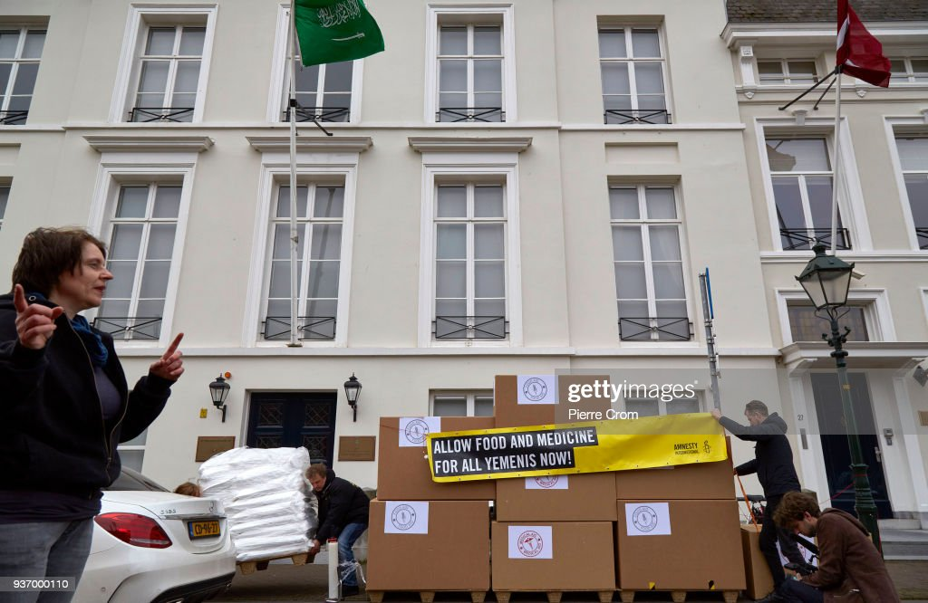 Amnesty International Protest Outside Saudi Embassy in The Hague