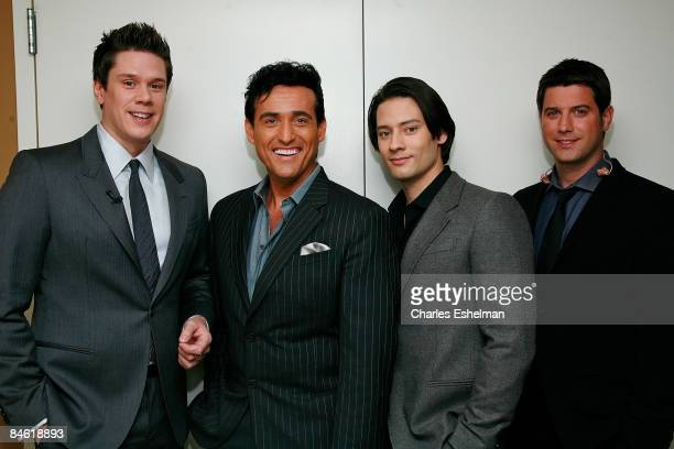 Members of Il Divo's David Miller Carlos Marin Ure Buhler and Sebastien Izambard perform at The Morning Show with Mike and Juliet at FOX studios on...