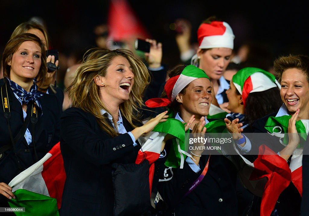Members of Italy's delegation parade in  : News Photo