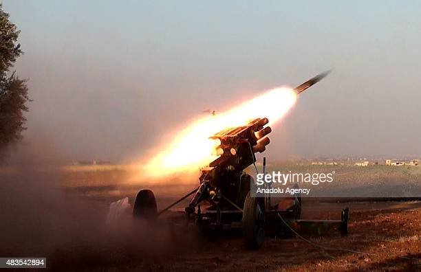 Members of Jabhat asSham forces attack on Daesh terrorists at Umm Hosh village in Mari District of Aleppo Syria on August 10 2015