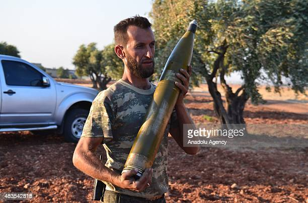 Members of Jabhat asSham forces make preparations before they attack on Daesh terrorists at Umm Hosh village in Mari District of Aleppo Syria on...