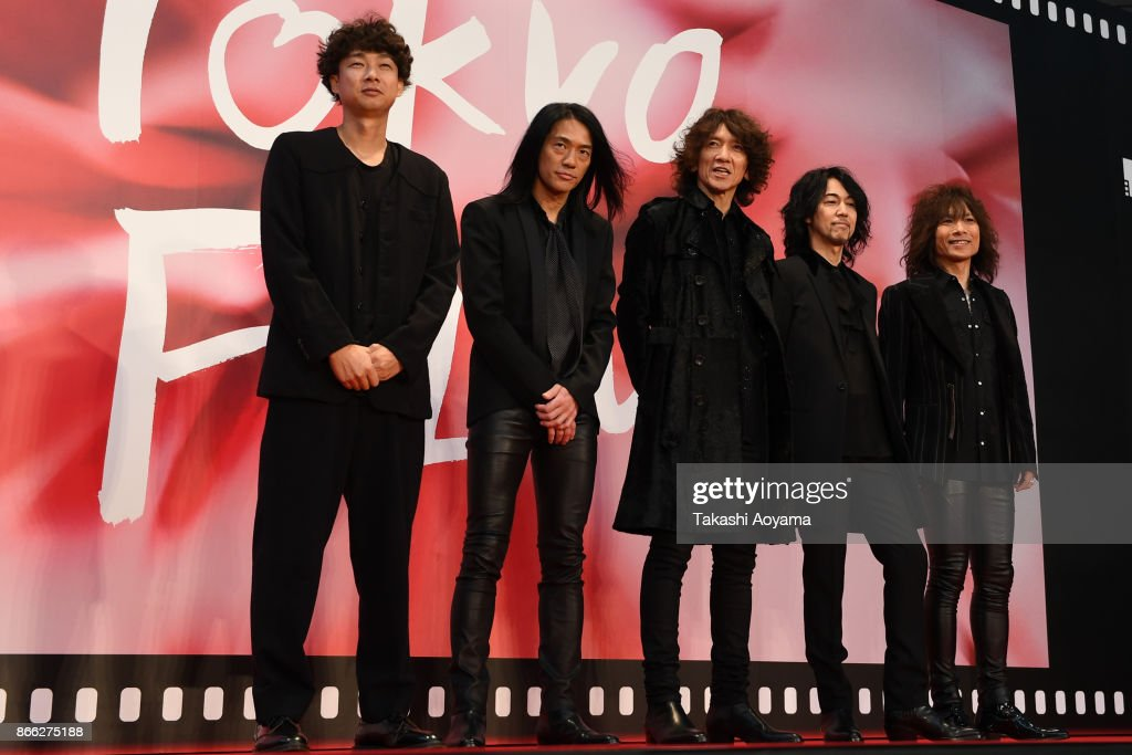 Members of japanese band THE YELLOW MONKEY the red carpet of the 30th Tokyo International Film Festival at Roppongi Hills on October 25, 2017 in Tokyo, Japan.