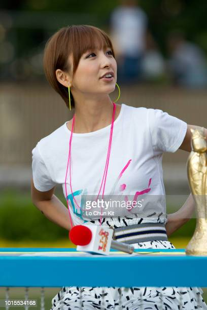 Members of Japanese girl group AKB48 Mariko Shinoda attends a event at Tokyo Racecourse on June 6 , 2010 in Tokyo, Japan.