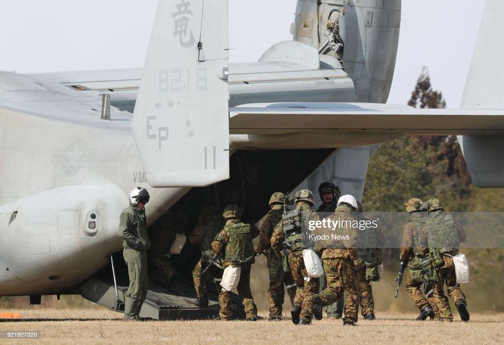 U.S.-Japan joint military drill : News Photo