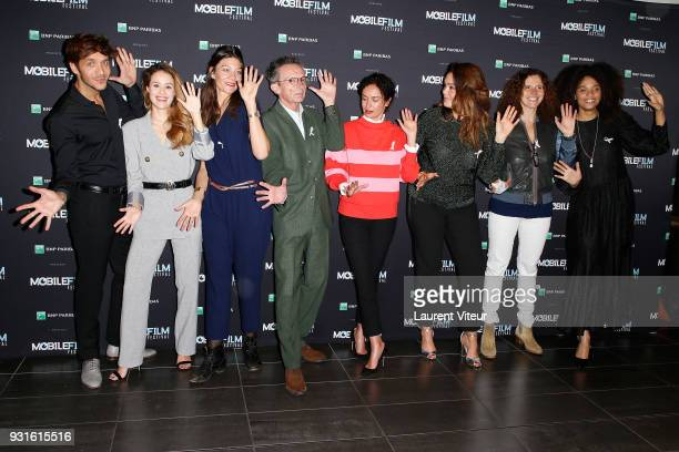 Members of Jury attend Mobile Film Festival 2018 at Mk2 Bibliotheque on March 13 2018 in Paris France