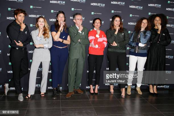 Members of Jury attend 'Mobile Film Festival 2018' at Mk2 Bibliotheque on March 13 2018 in Paris France