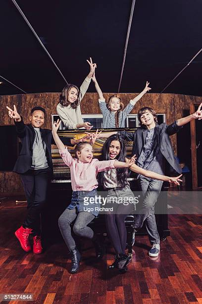 Members of Kids United are photographed for Gala on February 14 2016 in Paris France