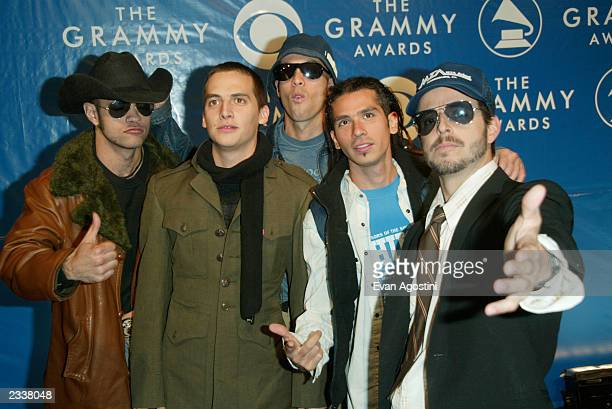 Members of Kinky attend the 45th Annual Grammy Awards at Madison Square Garden on February 23 2003 in New York City