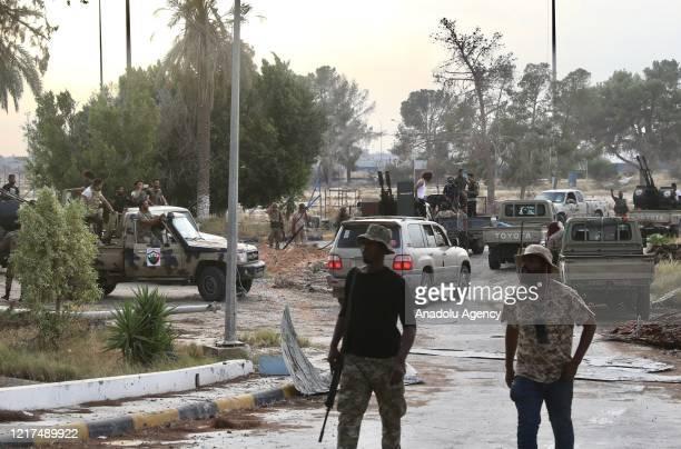 Members of Libyan army recapture Tripoli airport from warlord Khalifa Haftar's militias in Tripoli, Libya on June 03, 2020.