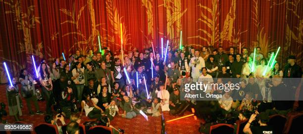 Members of Liningupnet at the Opening Night Celebration Of Walt Disney Pictures And Lucasfilm's 'Star Wars The Last Jedi' At TCL Chinese Theatre held...