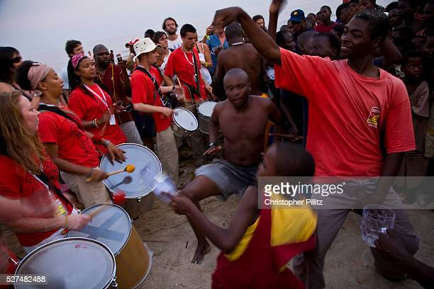 Members of Liverpool UK based BeatLife is an Afro Brazilian Bahian style Percussion band whom spontaneously play to local Malawian children on the...