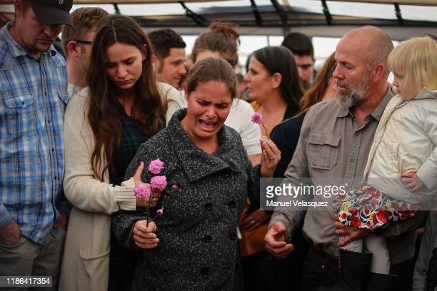 Members of local Mormon communities and relatives of the extended Le Baron family mourn Rhonita Maria Miller and their sons during their funeral on...